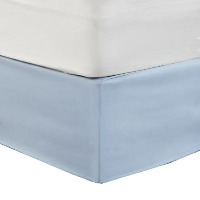 Madison Park Simple Fit Wrap Around Adjustable Bed Skirt In Blue