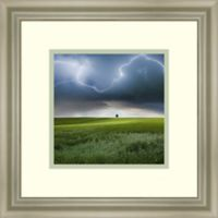 Amanti Art Someplace In Summer 15-Inch Square Framed Wall Art
