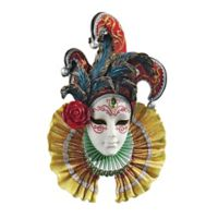 design TOSCANO® Colombina Jester Venetian Sculptural Wall Mask
