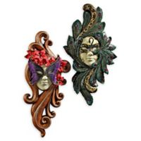 design TOSCANO® Masquerade at Carnivale Sculptural Wall Masks (Set of 2)
