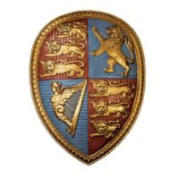 design TOSCANO® Queen Victoria's Royal Coat of Arms Wall Sculpture in Antique Gold