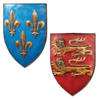 design TOSCANO® Grand Arms of France Wall Shields (Set of 2)