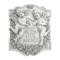 design TOSCANO® God Bless Our Home Cherubs Wall Sculpture in Gold