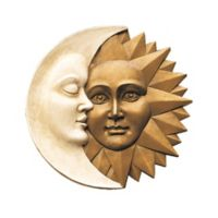 design TOSCANO® Celestial Harmony Sun and Moon Wall Sculpture in Gold/Ivory