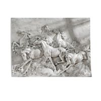 design TOSCANO® Wild Horse Stampede Wall Frieze in Off White