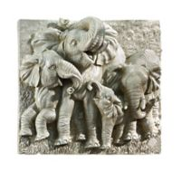 design TOSCANO® Gentle Giants of Namibia Wall Sculpture in Grey