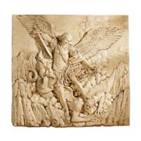 design TOSCANO® St. Michael the Archangel Wall Frieze in Tan