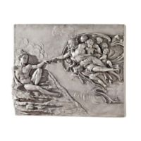 design TOSCANO® The Creation of Adam Sculptural Wall Frieze in Aged Stone