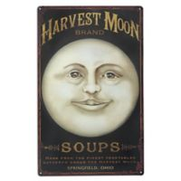design TOSCANO® Harvest Moon Metal Sign in Antique Tintype