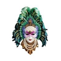 design TOSCANO® Mardi Gras Peacock Princess Wall Sculpture
