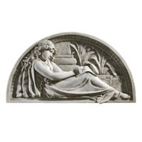 design TOSCANO® The Little Author Lunette Wall Sculpture in Antique Stone