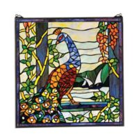 design TOSCANO® The Peacock's Garden Stained Glass Window
