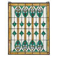 design TOSCANO® Elmslie Arts and Crafts Stained Glass Window