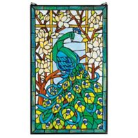 design TOSCANO® Peacock's Paradise Stained Glass Window