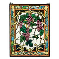 design TOSCANO® Grape Vineyard Stained Glass Window