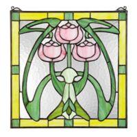 design TOSCANO® Tiffany-Style Glasgow Basket Stained Glass Window