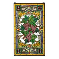 design TOSCANO® Fruit of the Vine Stained Glass Window