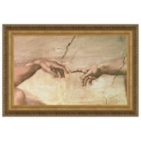 design TOSCANO® 13-Inch x 16-Inch Creation Canvas Stained Replica Painting