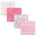 Luvable Friends® Love Flannel 4-Pack Receiving Blanket Set in Pink