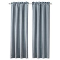 Waterford Florence 84-Inch Rod Pocket Window Curtain Panel Pair in Chambray