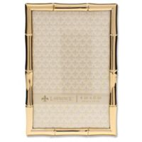Lawrence Frames 4-Inch x 6-Inch Bamboo Picture Frame in Gold