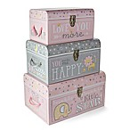 Tri-Coastal Design Sweet Baby of Mine Nested Boxes in Pink (Set of 3)