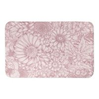 Designs Direct Pink Florals 34-Inch x 21-Inch Bath Rug in Pink