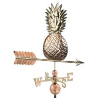 Good Directions Pineapple Weathervane in Polished Copper