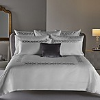 Frette At Home Antico King Duvet Cover in White/Silver