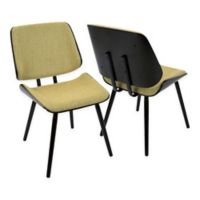 Lumisource™ Lombardi Upholstered Dining Chairs in Brown/yellow (Set of 2)