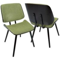 Lumisource™ Lombardi Upholstered Dining Chairs in Brown/green (Set of 2)