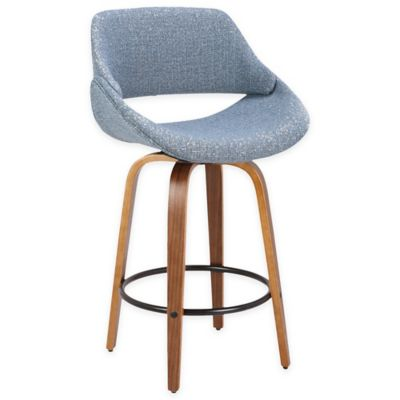 Lumisource™ Upholstered Barstool In Brown/blue
