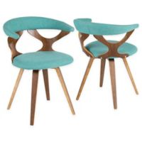 Lumisource™ Upholstered Dining Chair in Brown/teal
