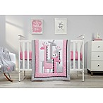 Little Love by NoJo® Giraffe Time 4-Piece Crib Bedding Set in Pink