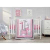 Little Love by NoJo® Giraffe Time 4-Piece Crib Bedding Set in Pink