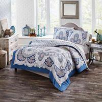 Boho Boutique Serene Reversible King Comforter Set in Blue