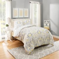 Marble HIll Rayna Reversible Queen Comforter Set in Grey