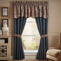 Croscill® Brenna 84-Inch Rod Pocket Window Curtain Panel Pair in Navy