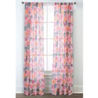 Sara B Collection Calypso 95-Inch Rod Pocket Window Curtain Panel Pair
