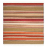 Safavieh Striped Kilim 7' x 7' Molly Rug in Green
