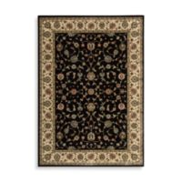 Nourison Persian Arts Kashan Black 5-Foot 3-Inch x 7-Foot 5-Inch Rug