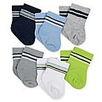 Gerber® Size 3-6M 6-Pack Hedgehog Terry Bootie Socks in Blue