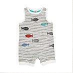 ED Ellen DeGeneres Size 24M Striped Fish Romper in Ivory