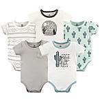 Yoga Sprout Size 6-9M 5-Pack Free Hugs Bodysuits in Green
