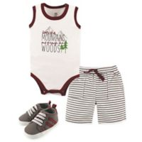 Yoga Sprout Size 12-18M Mountains 4-Piece Outfit in Red