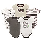 Yoga Sprout Size 9-12M 5-Pack Mountains and Woods Bodysuits in Red