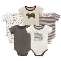 Yoga Sprout Size 12-18M 5-Pack Mountains and Woods Bodysuits in Red