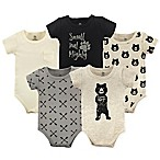 Yoga Sprout Size 6-9M 5-Pack Bear Hugs Bodysuits in Black