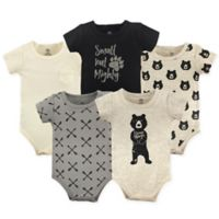 Yoga Sprout Size 12-18M 5-Pack Bear Hugs Bodysuits in Black