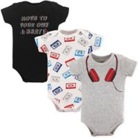 Little Treasures Size 3-6M 3-Pack Headphones Bodysuits in Red